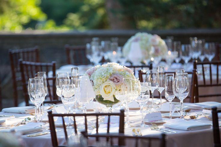Graydon Hall Manor wedding reception on patio