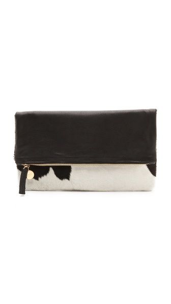 CLARE VIVIER Haircalf Fold Over Clutch | selected by jamesdrygoods.com for the made in america: contemporary project | #madeinusa |