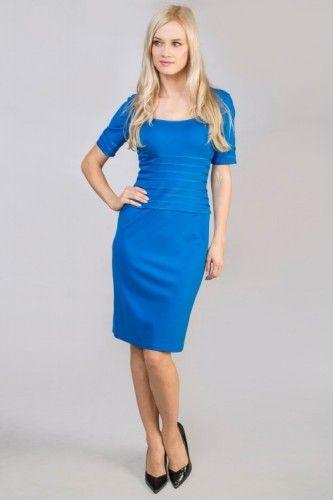 #tadashishoji #blue #casual #simple #dress