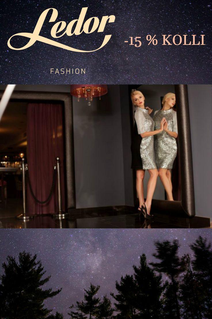 Błyszcząca i połyskująca elegancka sukienka Kolli w promocji 15% taniej!