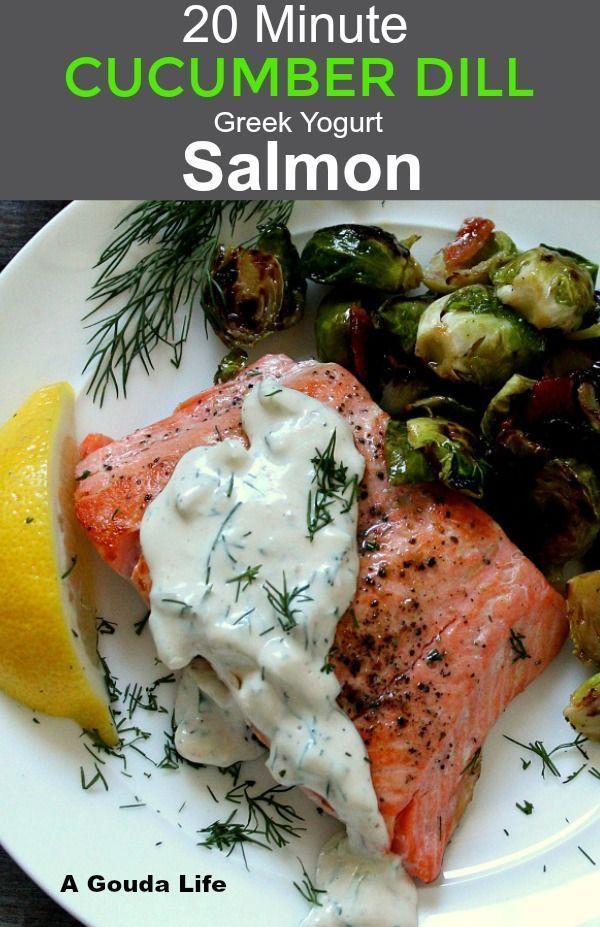 Salmon With Cream Cucumber Sauce In 2020 Cucumber Dill Pan Seared Salmon Dill Salmon