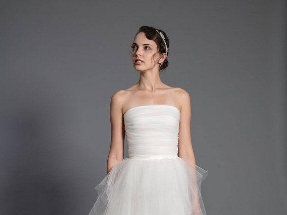 tulle corset  wedding separates  bridal top  ecru wedding