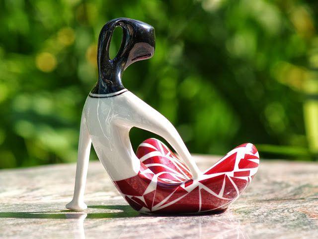 "Polish porcelain - ""sitting girl"" - 1958"