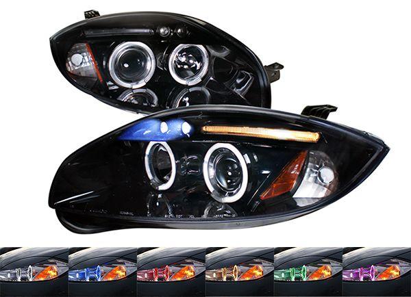 2006+ Mitsubishi Eclipse Halo Projector Headlights (Gloss Black TM)