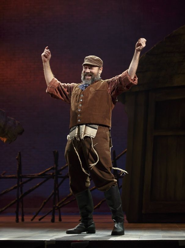Photo 1 of 15 | Danny Burstein as Tevye and Adam Dannheisser as Lazar Wolf in Fiddler on the Roof. | Fiddler on the Roof: Show Photos | Broadway.com