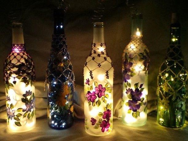 40 Best Glass Bottle Ideas Images On Pinterest Glass Bottles Amazing Decorated Wine Bottles With Lights Inside
