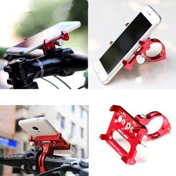 GUB G-86 CNC Bicycle Holder Handbar Clip Stand Mount Bracket for Phone GPS Device Up To 6.2 Inch Sale - Banggood.com