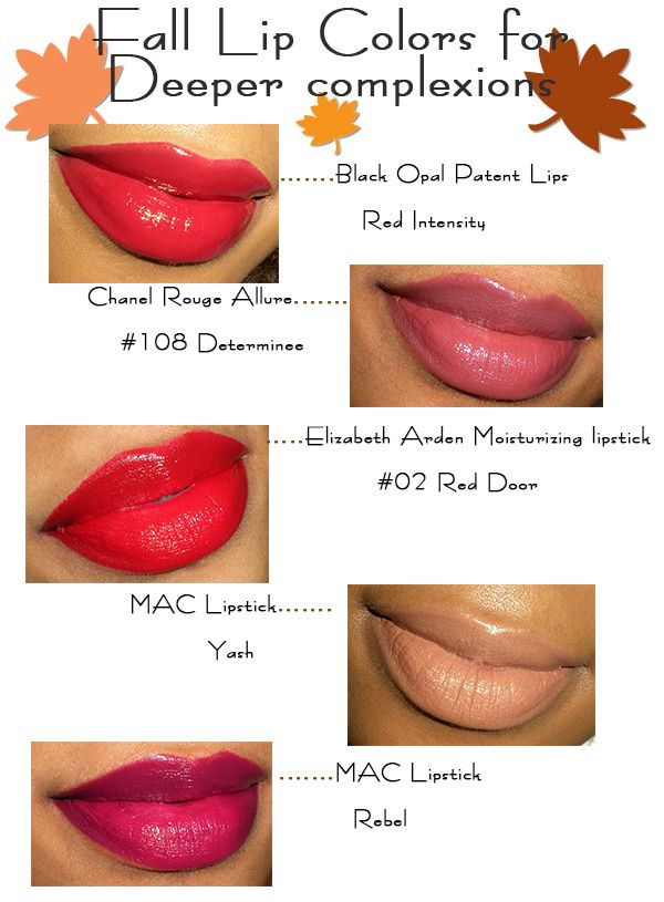 Autumn lip colors that are perfect for deeper skin tones