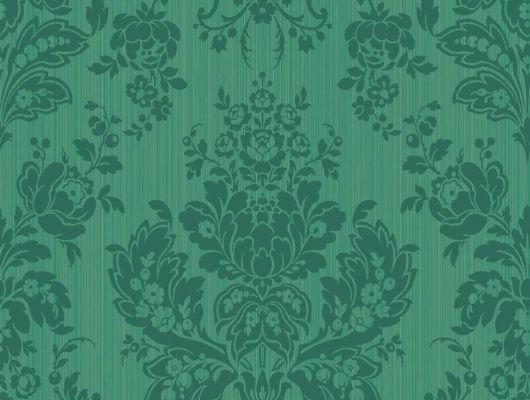 Зеленые обои из Англии для квартир