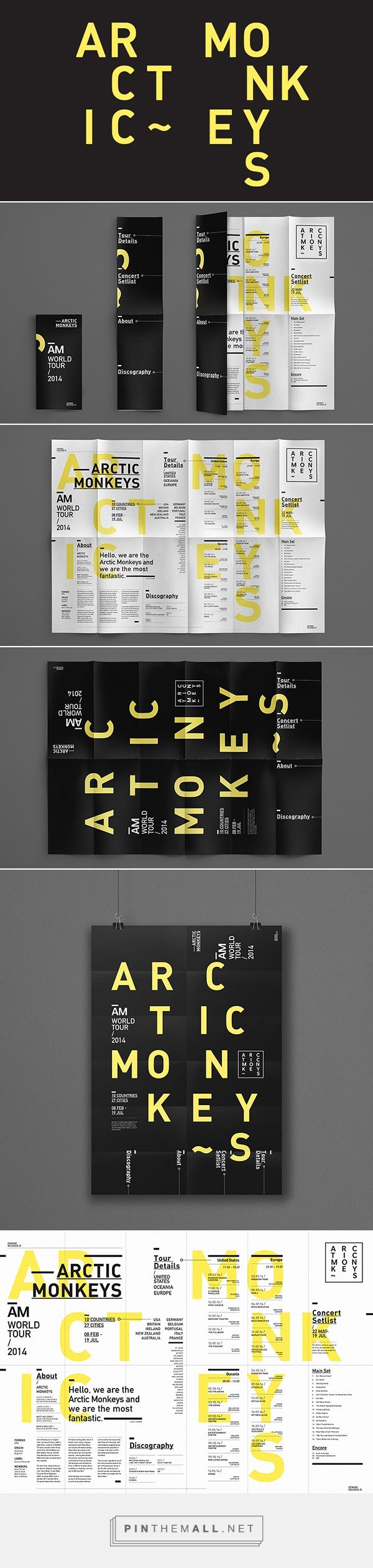 Arctic Monkeys Typographic Poster | Lee Marcus