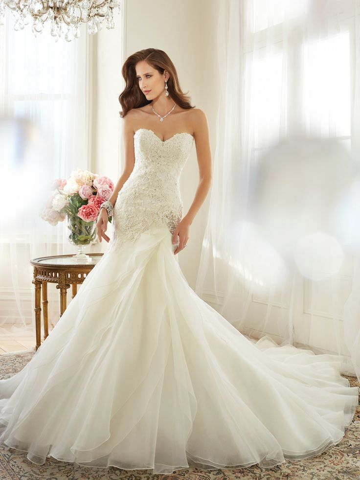 Sexy Trumpet/Mermaid Appliques Floor Length Court Train  wedding Dress