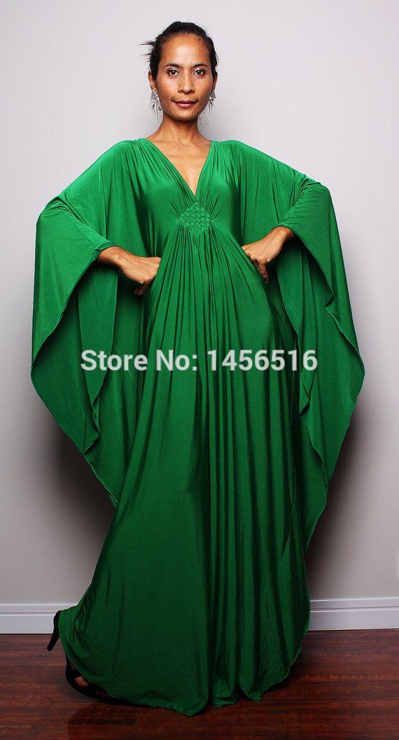 10102W New Arrival 2016 Green Kaftan Chiffon Abaya In Dubai Long Sleeve Jalabiya Moroccan Islamic Evening Dress Muslim Arabic-in Evening Dresses from Weddings & Events on Aliexpress.com | Alibaba Group