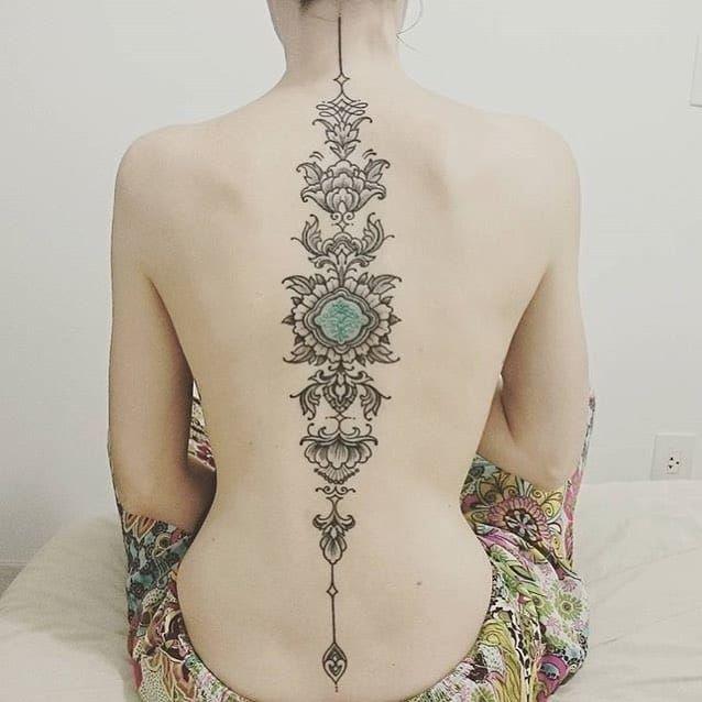 Neo-tribal back tattoo by Brian Gomez