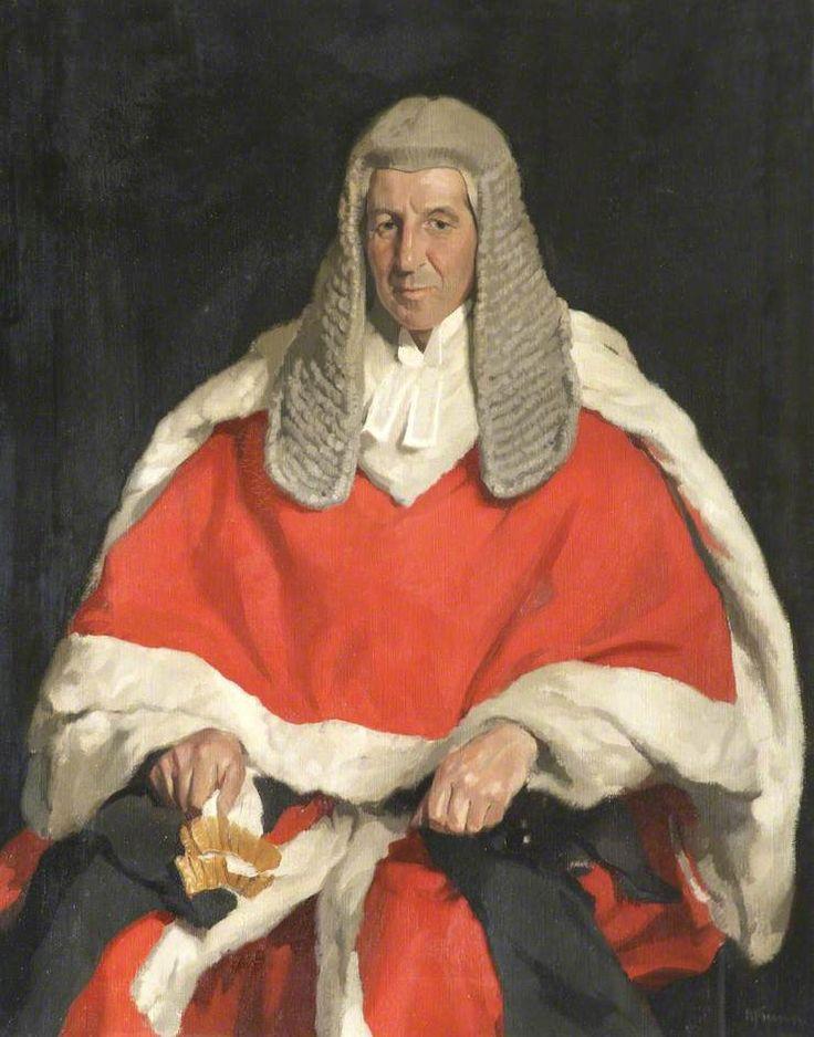 Portrait of Lord Alexander Adair Roche (1871–1956), Scholar and Honorary Fellow, c. 1920 by Sir (Herbert) James Gunn, R.A. (Scottish 1893-1964)