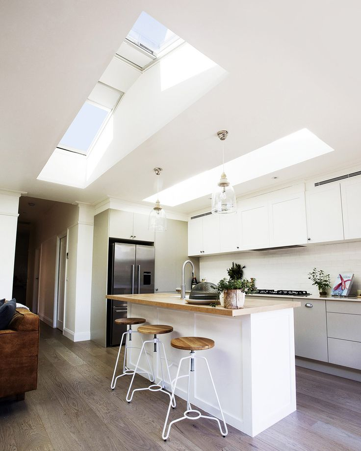 VELUX skylights will have a huge impact on your kitchen extension - more daylight, more views, more comfort. Get free delivery at Sterlingbuild.