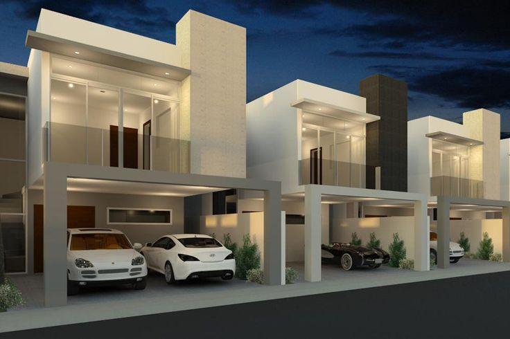 M s de 25 ideas incre bles sobre fachadas minimalistas en for Casas modernas juriquilla