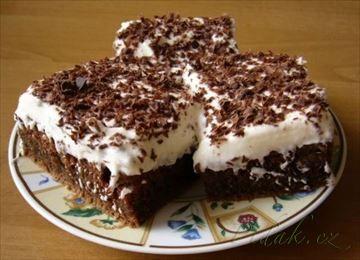 Zobrazit detail - Recept - Bláznivý koláč ke kafíčku luxusní