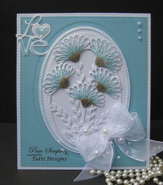 Frilly Flower Frame. Tutti Designs dies.