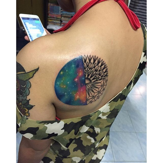 Image result for mandala galaxy tattoo