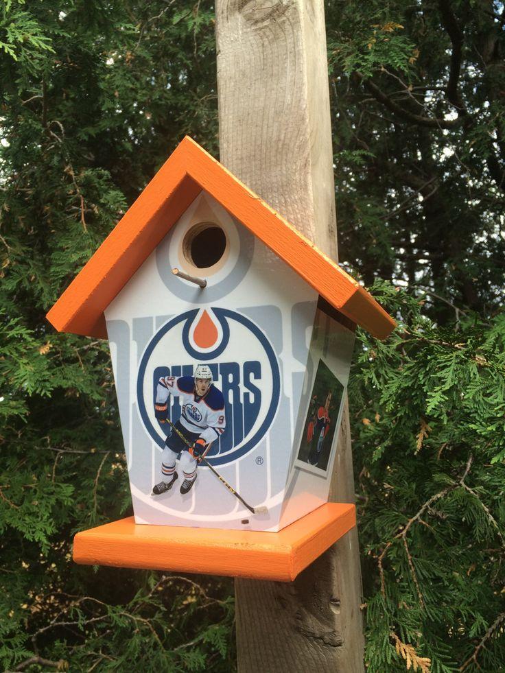 Edmonton Oilers Birdhouse Connor Mcdavid by buyabirdhouse on Etsy