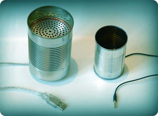 USB tin can telephone lets you relive your childhood over Skype
