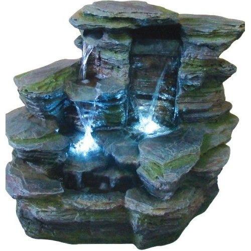 Amazon.com: Kelkay F4666L Bala Falls Fountain Including LED: Patio, Lawn & Garden