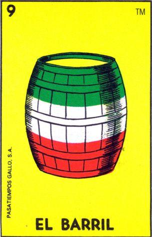 loteria, mexican, barrel, el barril - Loteria Mexicana - Mexican Bingo