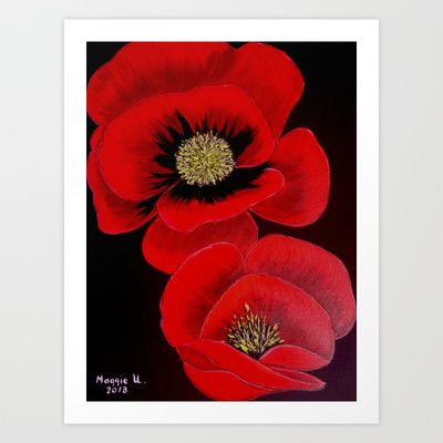 Poppies Art Print by maggs326 - $15.60