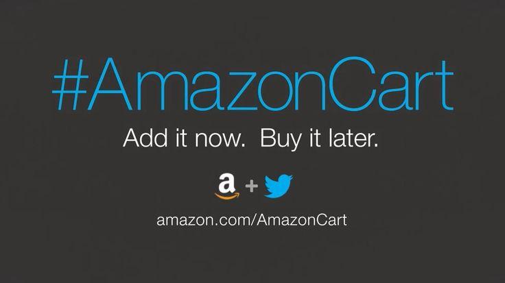 AmazonCart es el nuevo servicio presentado por Amazon que permite realizar compras de sus productos a través de Twitter mediante el hashtag #AmazonCart  http://gorkamu.com/2014/05/amazoncart-compra-desde-twitter/