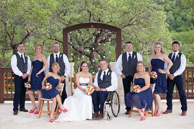 Good examples of posing with one of the couple in a wheelchair  » Alexi Cait Photography