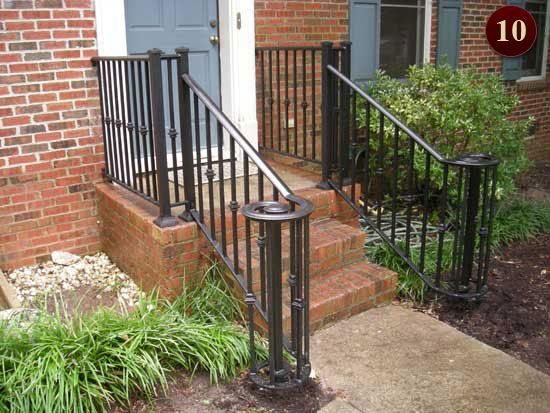 62 best wrought iron railings images on pinterest front for Porch durham