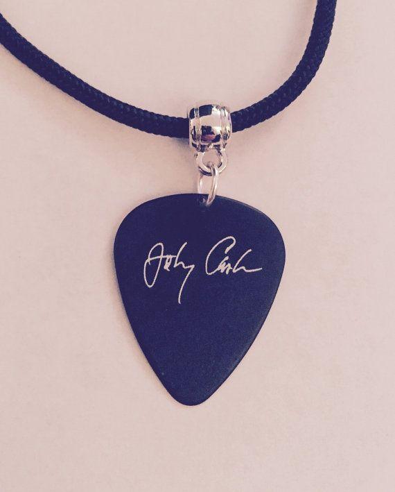 Johnny Cash Guitar Pick Necklace