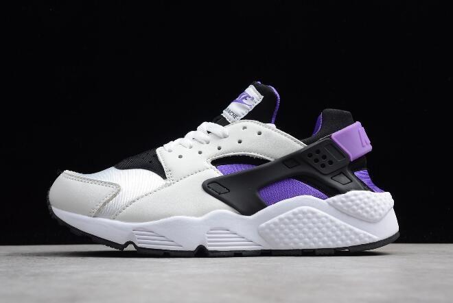 Nike Air Huarache 91 Qs Black Purple Punch White Ah8049 001 With