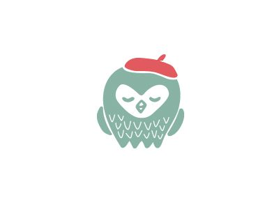Hand-drawn owl for a craft blog branding project.
