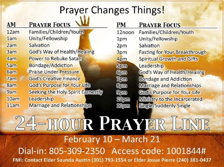 Capitol Hill 24-Hour Prayer Line