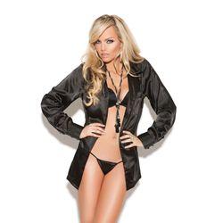 Heerlijk aanvoelende blouse om zelf lekker in weg te dromen of om je partner in te verleiden.  in de maten S tm XXXL