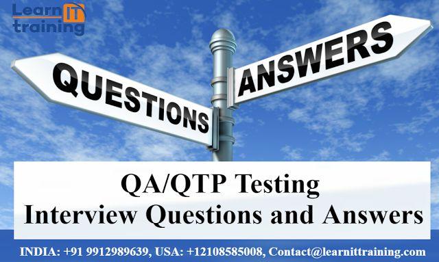 Testing Tools Online Training: QA/QTP Training Material | Software Testing Interv...