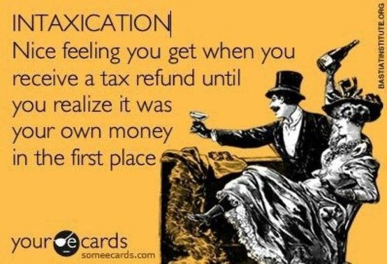 "I think we've all faced ""intaxication"" in one way or another!"