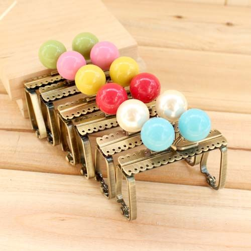 Free Shipping 6pcs/lot 7cm antique brass metal purse frame handbag handles multicolor mix rhinestone clasp k183 / Wholesale //Price: $US $19.15 & FREE Shipping //     #clknetwork
