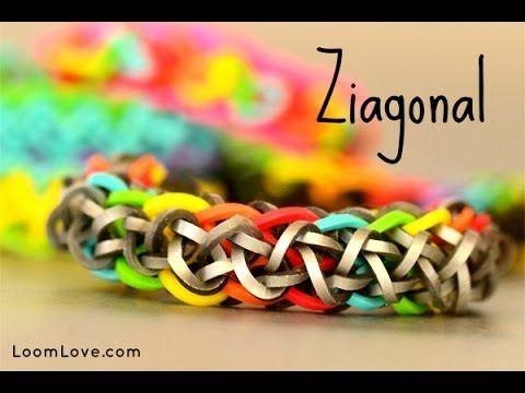 How to Make a Ziagonal Rainbow Loom Bracelet #rainbowloom