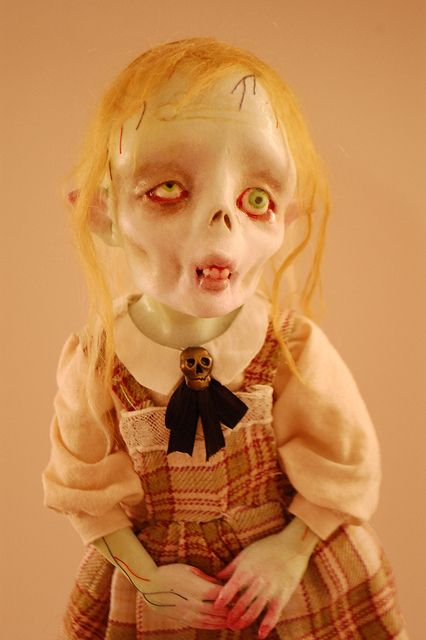 I agree with previous pinner.  There is something about her!  La petite zombie doll....I love this freaky thing for some reason!