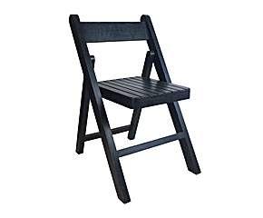 Silla plegable de madera – negra