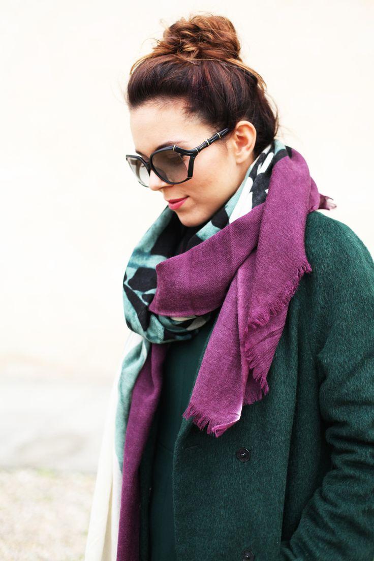green #winter coat