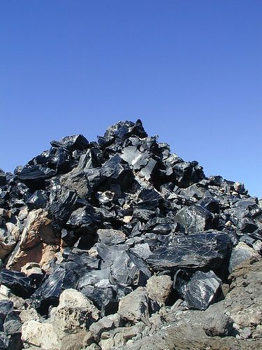 piles of obsidian