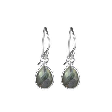 Mette: Pure Drop øreringe, labradorit, sterling sølv, Design By Mai Mannniche, JEWLSCPH