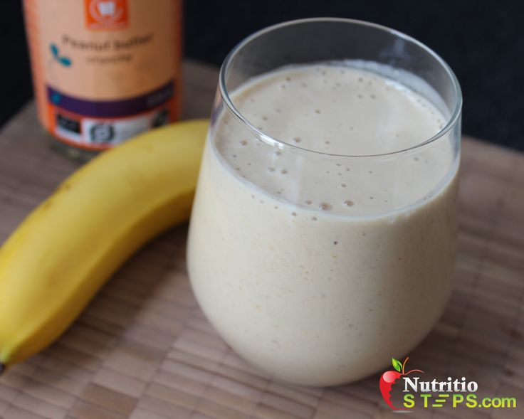 Peanut Butter Banana Creamy Smoothie   Nutritio Steps