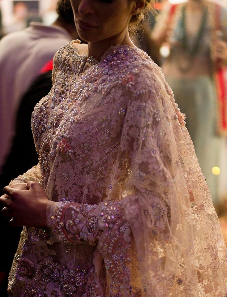 Indian/Pakistani Bridal Saree | Beautiful Details | Tumblr Pic