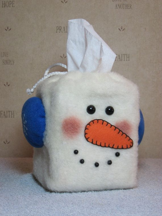 Elementary school teachers LOVE to make this cute, winter tissue box holder for their classrooms.  Kids adore it!