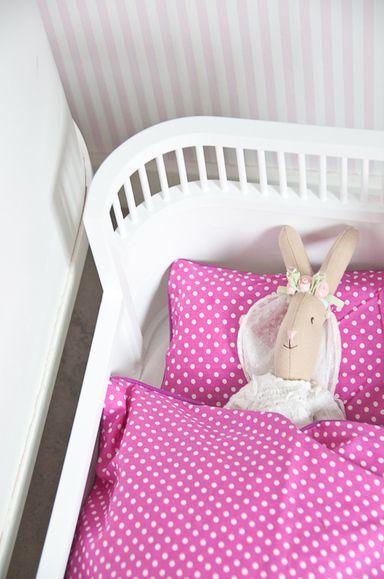 Sängkläder till Rosaline docksäng/Juno docksäng, rosa