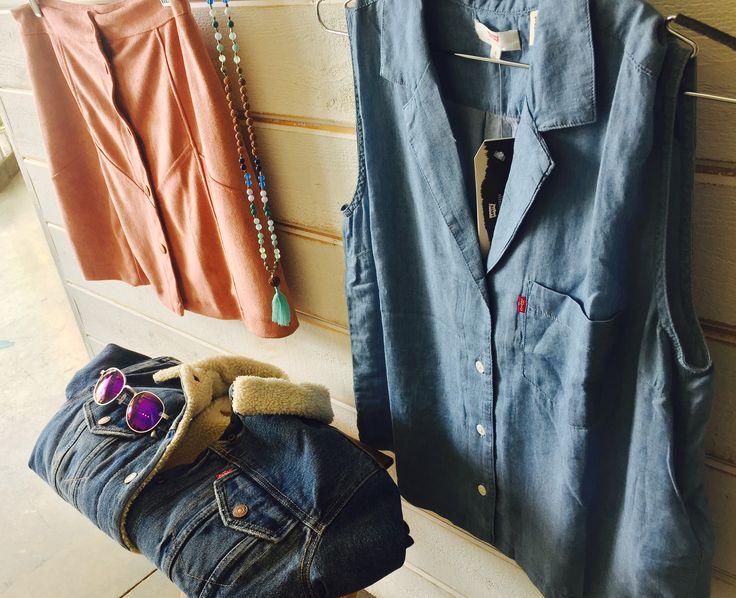 Too much denim.......said no one ever!!!!! Enjoy 15%off while shopping on our online store PROMO CODE: AlexPinterest   #levis #levistauss #originaltruckerjacket #denim #denimshirt #denimjacket #malabeads #dreamlandsurf #fauxsuede #retromini #dustyrose #proofeyewear